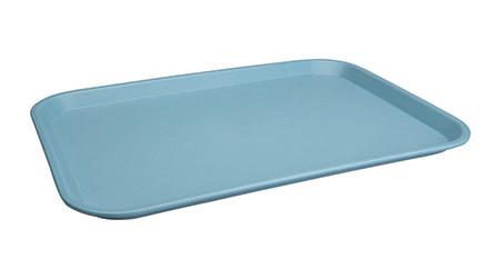 Tablett PP hellblau 53x37x2,2cm glatte Oberfläche, spülmaschinengeeignet