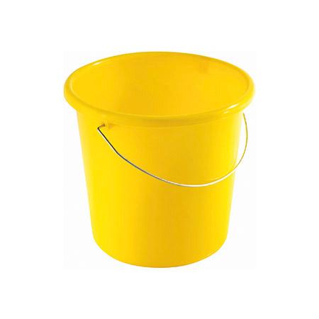 Haushaltseimer gelb, 5Ltr. mit Metallbügel Kunststoff PP
