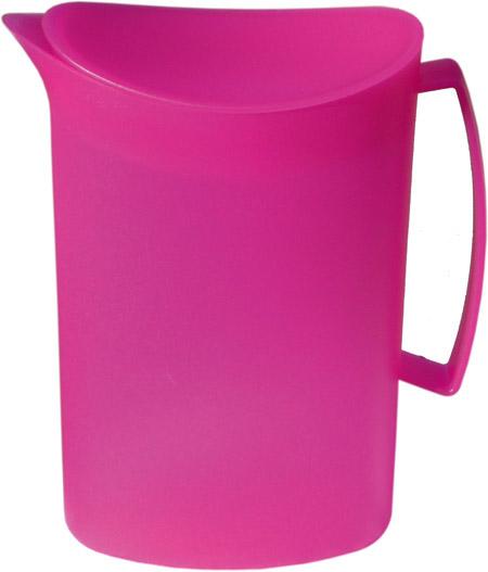 Kanne mit Deckel, 2 Ltr., pink, semi-transparenter Kunststoff PP