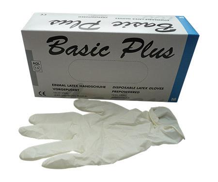 Einweghandschuhe Latex Größe M 100 Stück/Pack, puderfrei, weiß