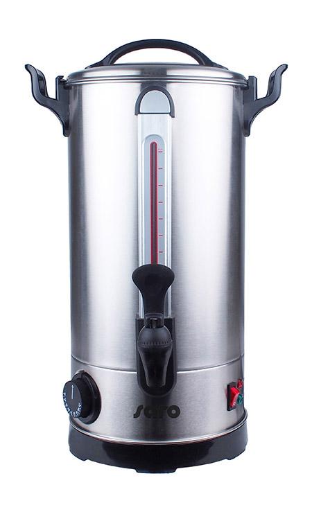 Glühwein-u. Heißwasserspender ANCONA 10 9Liter, Edelstahl, Sicherheitszapfhahn,