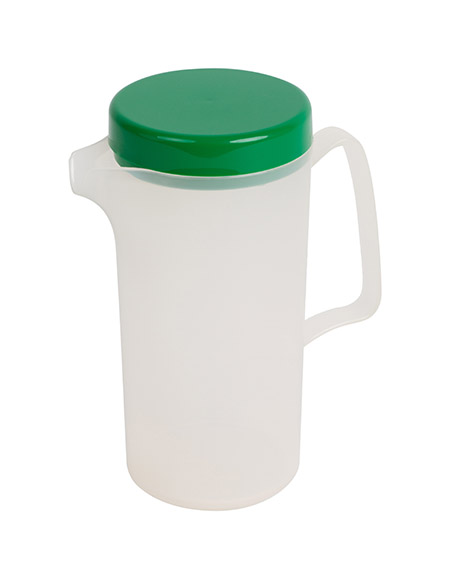 Kanne 0,6Ltr. transparent mit grünem Deckel Polypropylen