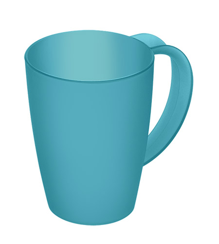 Henkelbecher Caruba, aqua-blau, 0,25L Kunststoff PP