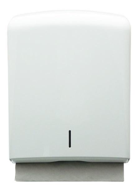 Falthandtuchspender Azur, weiß, Kunststoff, m. Sichtschlitz, für 750 Blatt
