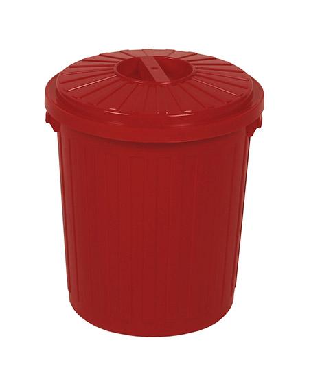 Mini-Tonne rot, 7 Ltr., mit Drehverschluss Kunststoff PP, stabile Ausführung