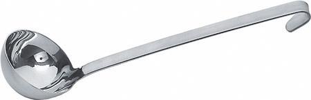 Schöpfkelle Ø 10cm, mit Hakenstiel, 0,25L kurzer Stiel, 25cm, Chrom-Nickel-Stahl