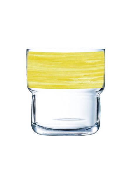 Stapelglas Brush Yellow, 22cl
