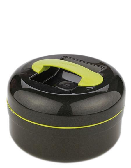Kunststoff-Thermobehälter, 1,5Ltr., anthrazit-grün, m. Speise-Einsatz 0,65 ltr
