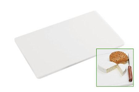 PE-Schneidbrett, weiß, GN 1/2 32,5x26,5x1,5cm, 4 rutschfeste Gummifüße