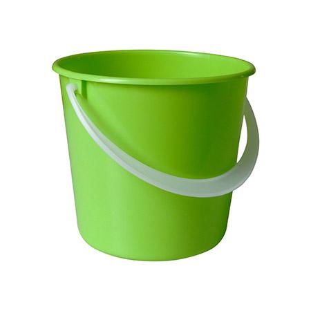 Tischeimerchen klein, apfelgrün 2,5L Henkel natur, ohne Deckel