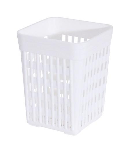 Besteckbehälter, weiß, eckig 11x11x14cm,