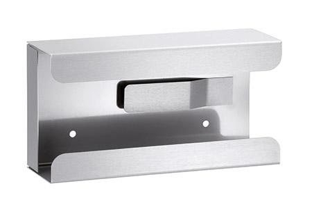 Spender für Handschuhboxen K10, Edelstahl rückseitige Feder innen, zur Wandmontage