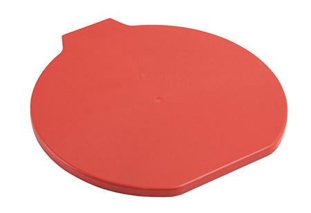 Deckel für Lebensmitteleimer, extra stark, rot Kunststoff PP
