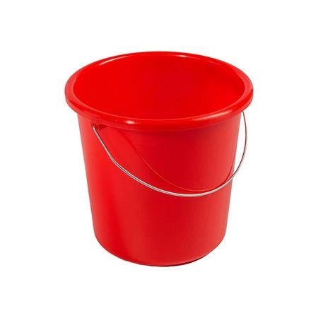 Haushaltseimer rot, 5Ltr. mit Metallbügel Kunststoff PP