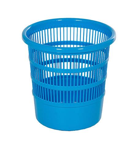 Papierkorb Kunststoff blau Ø24,5cm, H 24cm