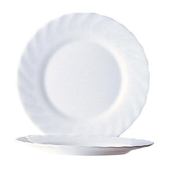 Dessertteller, 19,5cm, Trianon Uni weiß D6887