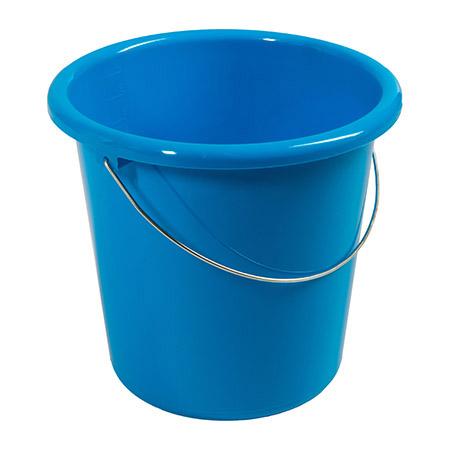 Haushaltseimer blau, 10Ltr. mit Metallbügel Kunststoff PP