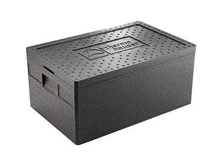 Thermobox inkl. Deckel, schwarz, für GN 1/1-200 Außenmaß: 59,5x39x28cm
