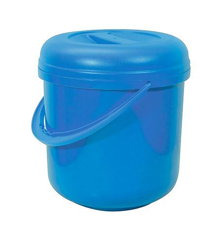 Deckeleimer blau, 10Ltr. mit Kunststoffbügel Kunststoff