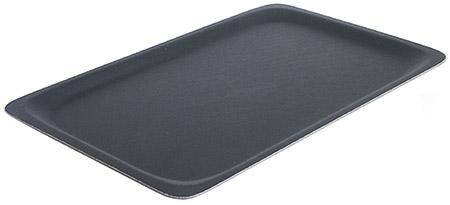 Tablett, rutschfest, 53x32,5cm, schwarz gummilaminierter Schichtstoff