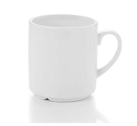 Kaffeebecher, 0,29l, Ø7,8cm, H 8,8cm stapelbar, Porzellan, weiß