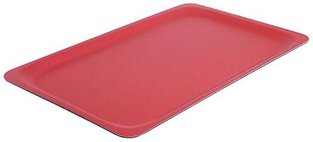 Tablett, rutschfest, 53x32,5cm, rot gummilaminierter Schichtstoff