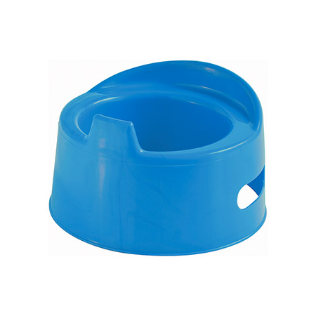 Kinder-Töpfchen, blau Kunststoff, Ø unten 23cm, tiefe Mulde