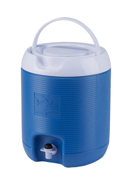 Thermo-Getränkebehälter, 6L, blau komplett Kunststoff PE