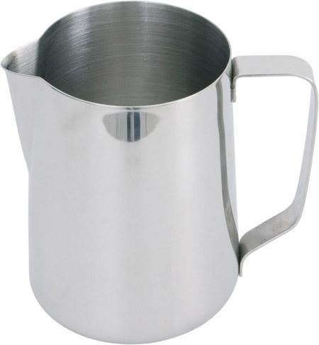 Edelstahl-Milchgießer, 1,0Ltr. Füllmenge ca. 0,75Ltr., H 12,5cm