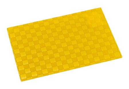 Platzmatte gelb, breite Flechtung PP 43 x 30,5 x 0,1cm