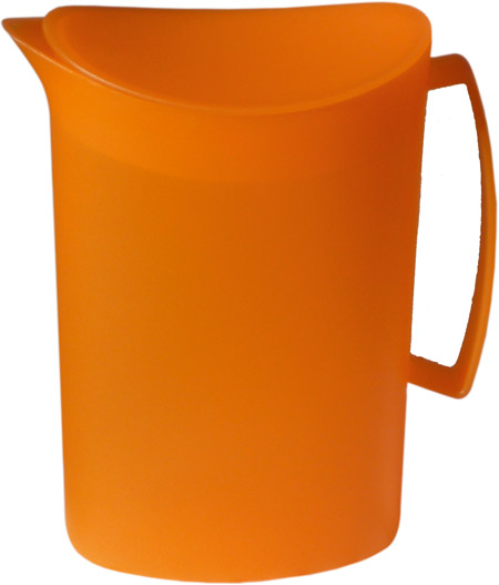 Kanne mit Deckel, 2 Ltr., orange, semi-transparenter Kunststoff PP