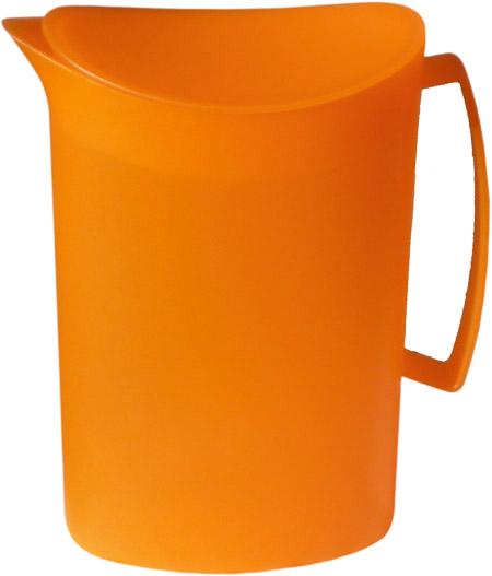 Kanne mit Deckel, 2 Ltr., orange, semi-transparenter Kunststoff PP