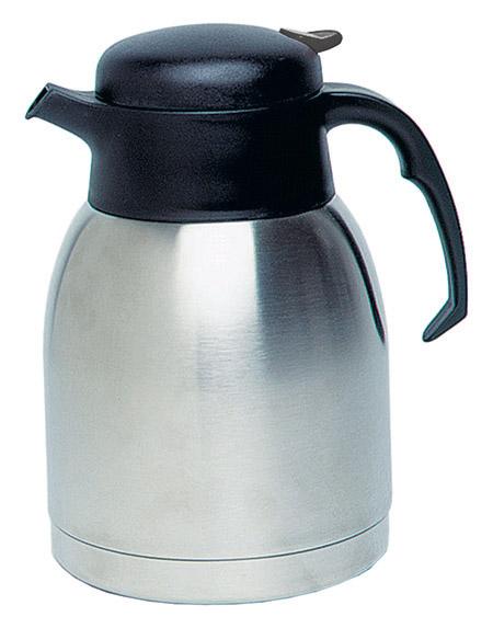 Vacuum-Kaffeekanne, 1,5Ltr., Chrom-Nickel-Stahl, Kunststoffoberteil
