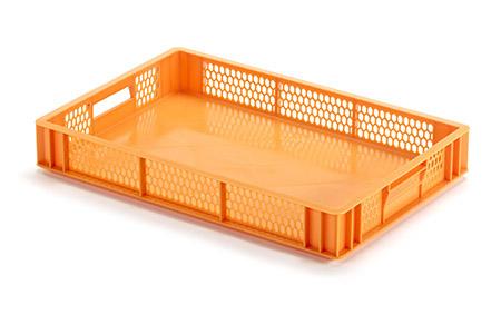 Tablettkorb orange, Kunststoff PE 60 x 40 x 7,5 cm