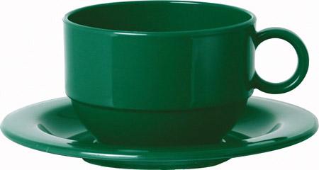 Tasse, stapelbar, 20cl, grün, PP