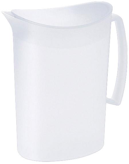 Kanne mit Deckel, 2 Ltr., weiß, semi-transparenter Kunststoff PP