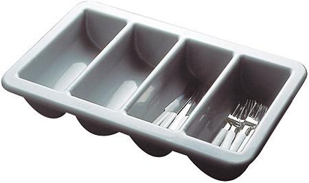 Besteckbehälter 4 Mulden, grau L 53 x B 32,5cm