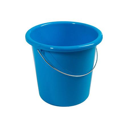 Haushaltseimer blau, 5Ltr. mit Metallbügel Kunststoff PP