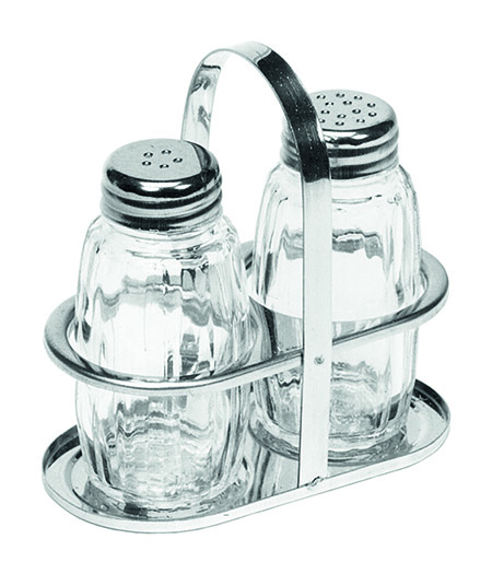 Menage, 2tlg., Salz und Pfeffer, Glas