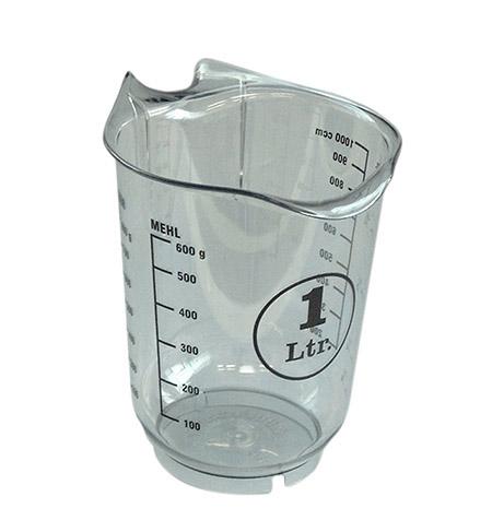 Messkanne, 1,0Ltr., transparent, Kunststoff mit gedruckter Skala
