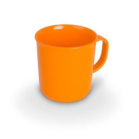 Henkelbecher, 20cl, orange, Polycarbonat