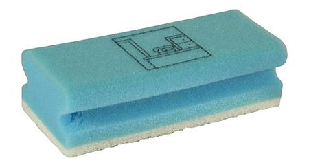 Schwämme Büro/blau, 10er Pack Vliesstoff/PU-Schaum