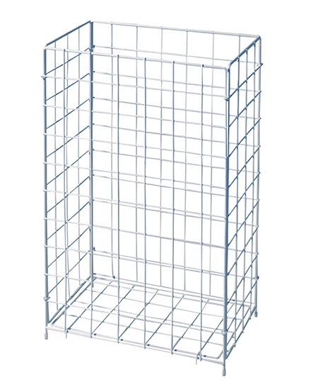 Abfallkorb groß Gitter, weiß, Stahldraht pulverbeschichtet zum Stellen