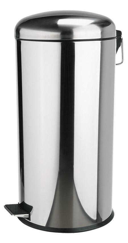 Edelstahl-Treteimer, 18/0, 20Ltr., mit Plastikeinsatz und Edelstahltritt