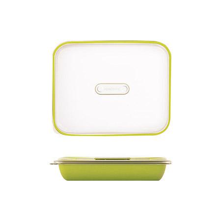 Frischhalte-/Servierbox grün 1,5L, PP, Microban mit transparentem Deckel, 25,5 x 21 x H 5,5cm