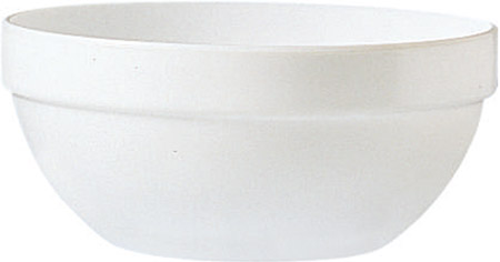 Restaurant Uni weiß Stapelschale 17 cm