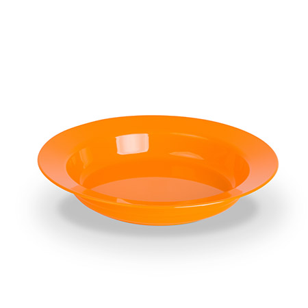 Teller tief, 19cm, orange, Polycarbonat