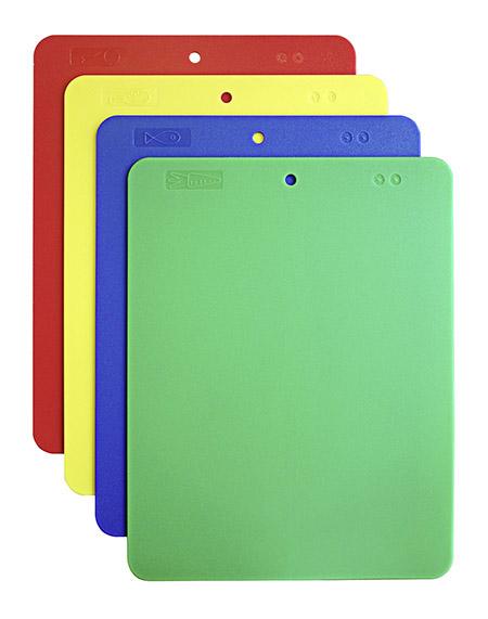 Schneidunterlagen-Set 4-teilig 37x29x0,2cm,  Polyethylen