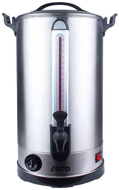 Glühwein-u. Heißwasserspender ANCONA 30 30 Liter, Edelstahl, Sicherheitszapfhahn,