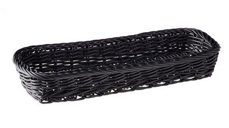 Besteckkorb lang, schwarz, 27 x 10 x H4,5cm Kunststoff PP
